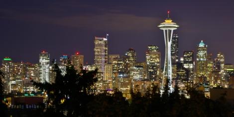 Seattle Night Skyline